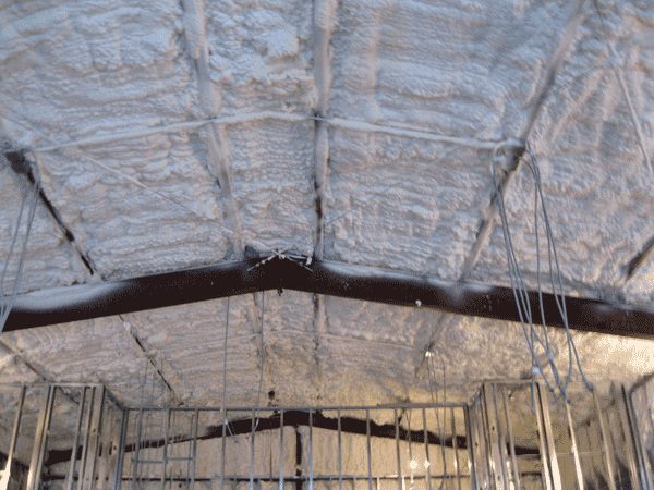 Insulated ceiling of Naive and Sanctuary, Mid-July 2017