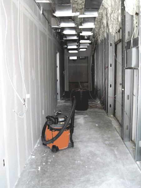 Hallway between original and new buildings, August 12, 2017