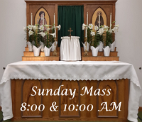 Click here to see the Holy Mass Live on Sunday